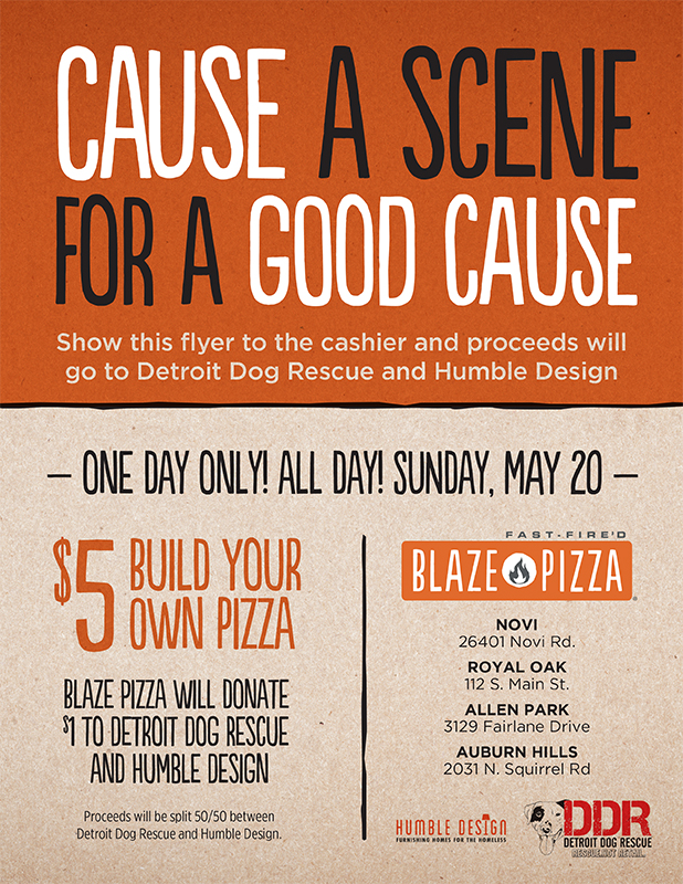 $5 Pizza – Cause a Scene for a Good Cause